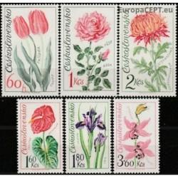 Czechoslovakia 1973. Flowers