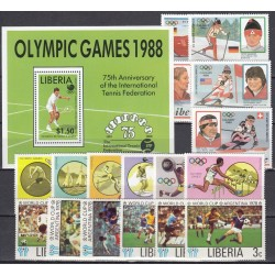 Liberia. Sports on stamps