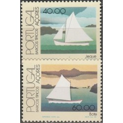 Azores 1985. Traditional boats