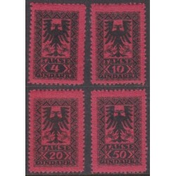 Albania 1922. Coats of arms