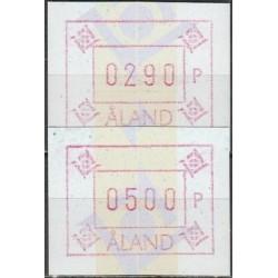 Aland 1993. ATM (Frama) stamps