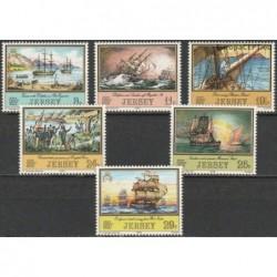 Jersey 1983. Sailing ships
