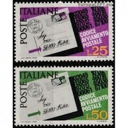 Italy 1968. Post codes