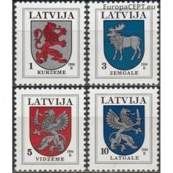 Latvija 1994. Miestų herbai