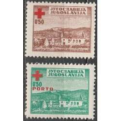 Yugoslavia 1947. Red Cross...