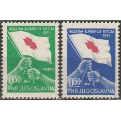 Yugoslavia 1951. Red Cross...