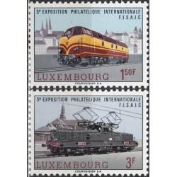 Luxembourg 1966. Locomotives