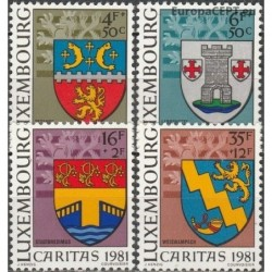 Luxembourg 1981. Coats of arms