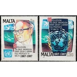 Malta 1987. United Nations...