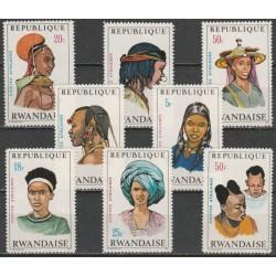 Rwanda 1973. National costumes