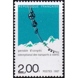 France 1987. Winter sports