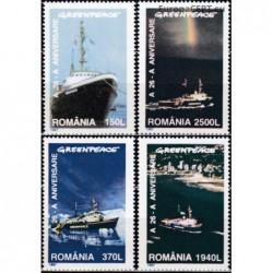 Romania 1997. Greenpeace ships