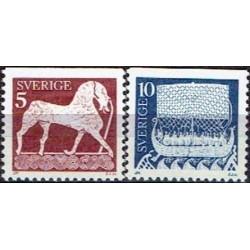 Sweden 1973. Picture stones