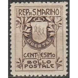San Marinas 1907. Herbai