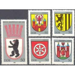 Rytų Vokietija 1983. Miestų...