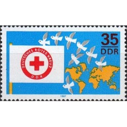 East Germany 1987. Red Cross