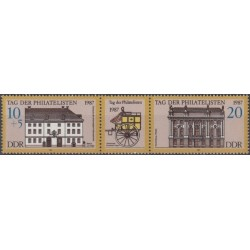 Rytų Vokietija 1987. Pašto...