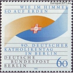 West Berlin 1990. Catholic Day