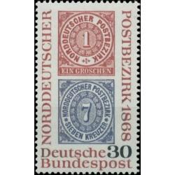 Vokietija 1968. Pašto istorija