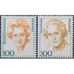 Germany 1997. Famous women