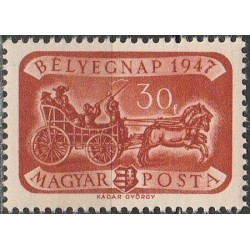 Vengrija 1947. Pašto istorija