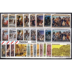 Rwanda. History on stamps
