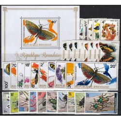 Rwanda. Insects on stamps