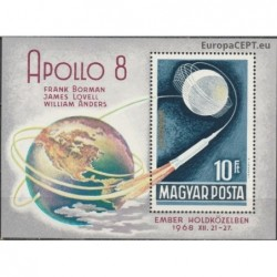 Hungary 1969. Apollo-8