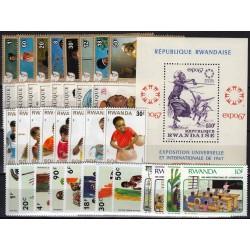 Rwanda. Culture on stamps