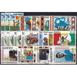 Rwanda. National symbols on...