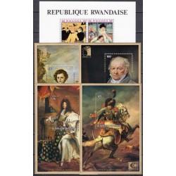 Rwanda. Paintings on stamps II