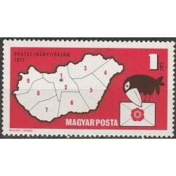 Vengrija 1973. Pašto kodai