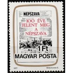 Vengrija 1977. Laikraštis