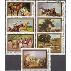 Hungary 1979. Horses in...