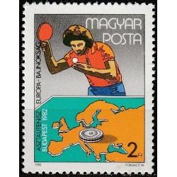 Vengrija 1982. Stalo tenisas