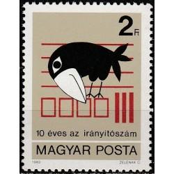 Vengrija 1983. Pašto kodai
