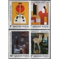 Hungary 1989. Modern paintings