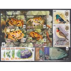 Aitutaki. Fauna on stamps