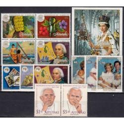 Aitutaki. Famous people on...