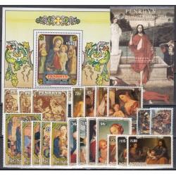 Penrhyn. Paintings on stamps