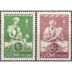 Finland 1946. Anti-TB campaign