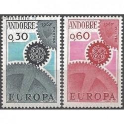 10x Andorra (french) 1967....