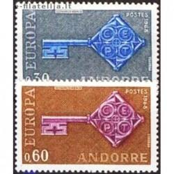 10x Andorra (french) 1968....