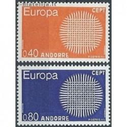 10x Andorra (french) 1970....