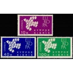 5x Kipras 1961. Europa CEPT...