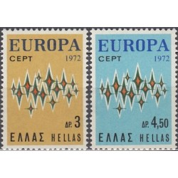 10x Greece 1972. Europa...