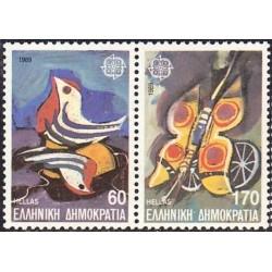 10x Greece 1989. Europa...