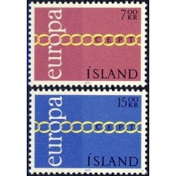 10x Islandija 1971. Europa...