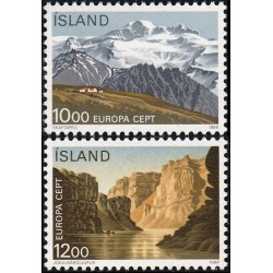 10x Iceland 1986. Europa...
