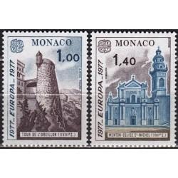 5x Monaco 1977. Europa CEPT...